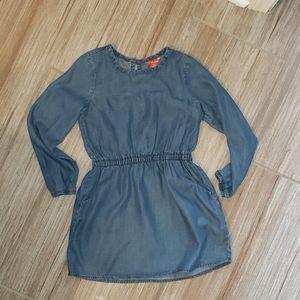 Girls open back dress